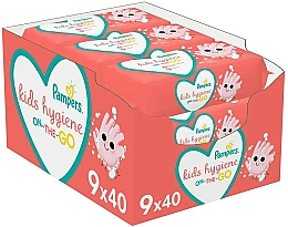 Fragrances, Perfumes, Cosmetics Baby Wet Wipes, 9x40 pcs - Pampers Kids On The Go