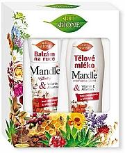 Fragrances, Perfumes, Cosmetics Set - Bione Cosmetics Mandle (h/balm/200ml + b/lot/500ml)