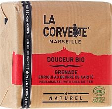 """Fragrances, Perfumes, Cosmetics Soap """"Pomegranate & Shea Butter"""" - La Corvette BIO Pomegranate With Shea Butter"""
