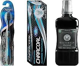 Fragrances, Perfumes, Cosmetics Set - Beauty Formulas Charcoal (mouthwash/500ml + toothbrush/1pcs + toothpaste/125g)