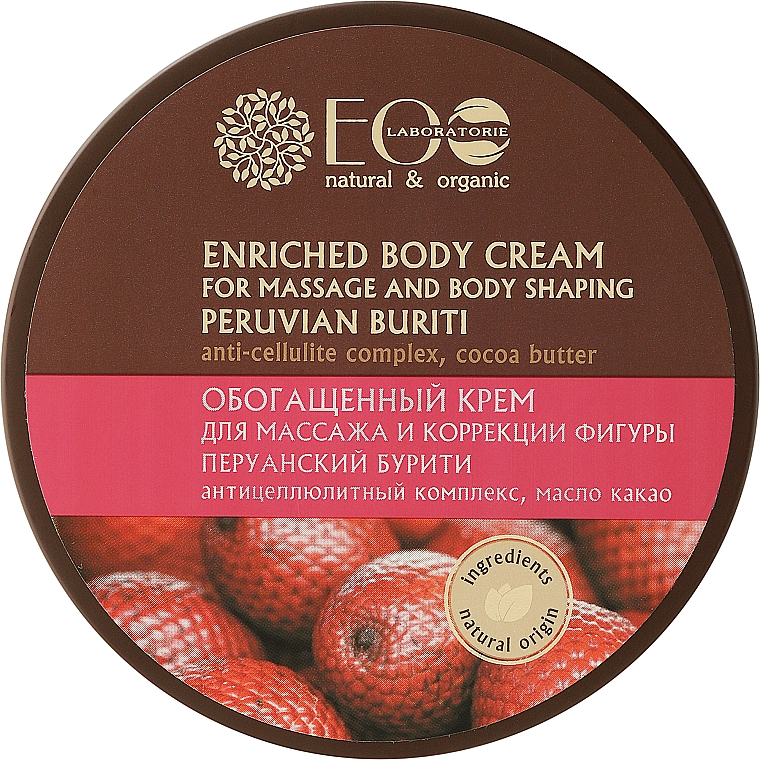 Body Massage and Shaping Enriched Cream - ECO Laboratorie Natural & Organic
