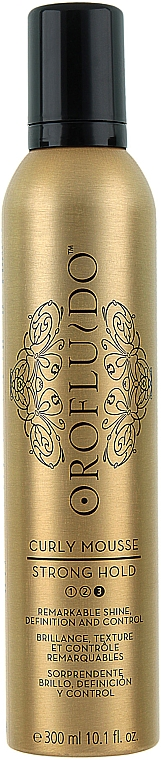 Strong Hold Curling Mousse - Orofluido Curly Mousse Strong Hold
