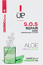 Fragrances, Perfumes, Cosmetics Vitalizing Face Mask - Verona Laboratories DermoSerier Skin Up S.O.S Repair Soothing and Calming Face Mask
