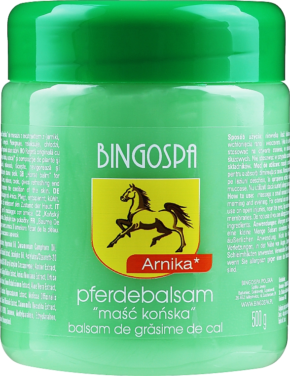 Horse Ointment with Arnica - BingoSpa