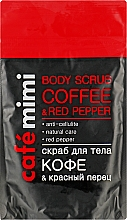 "Fragrances, Perfumes, Cosmetics Body Scrub ""Coffee & Red Pepper"" - Cafe Mimi Body Scub Coffee & Red Pepper"