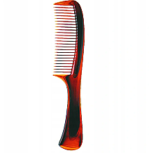 Fragrances, Perfumes, Cosmetics Hair Comb with Handle, 499828, Amber Color - Inter-Vion