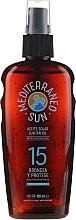 Fragrances, Perfumes, Cosmetics Tanning Oil - Mediterraneo Sun Coconut Suntan Oil Dark Tanning SPF15