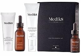 Fragrances, Perfumes, Cosmetics Set - Medik8 CSA Philosophy Kit For Men (clencer/40ml + f/cer/30ml + f/cr/50ml +f/ser/15ml)