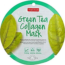 Fragrances, Perfumes, Cosmetics Sheet Mask - Purederm Green Tea Collagen Mask