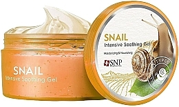 Fragrances, Perfumes, Cosmetics Softening, Moisturizing & Nourishing Face & Body Gel with Snail Mucin - SNP Intensive Snail Soothing Gel