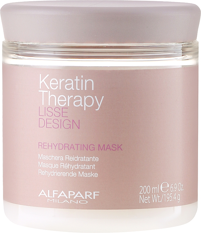 Hair Mask, Moisturizing - Alfaparf Lisse Design Keratin Therapy Rehydrating Mask