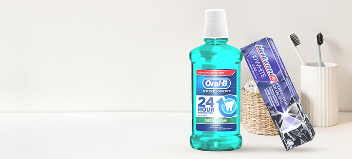 When buying Blend-a-med, Blend-A-Dent and Oral-B for the amount of £6 or more, get a free Toothpaste