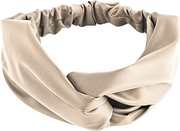 "Fragrances, Perfumes, Cosmetics Hair Band, eco leather binding, beige ""Faux Leather Twist"" - MakeUp Hair Accessories"