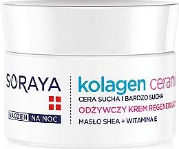 Fragrances, Perfumes, Cosmetics Nourishing Night Cream - Soraya Kolagen i Ceramid Nourishing Cream