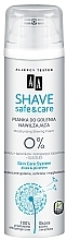 Fragrances, Perfumes, Cosmetics Moisturizing Shaving Foam - AA Shave Safe & Care