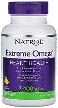 Fragrances, Perfumes, Cosmetics Omega with Lemon Flavor, 2400mg - Natrol Omega Extreme Heart Health