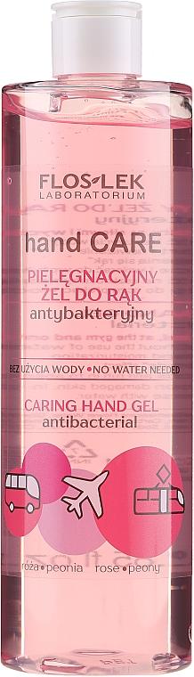 Antibacterial Hand Gel with Rose and Peony - Floslek Hand Care Caring Hand Gel