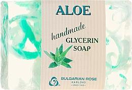 "Fragrances, Perfumes, Cosmetics Glycerin Soap ""Aloe"" - Bulgarian Rose Green Cherry Aloe Soap"