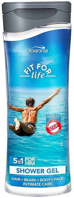 Shower Gel and Shampoo 5 in 1 - Joanna Fit For Life 5in1 Shower Gel For All Body Odour Stoper For Men