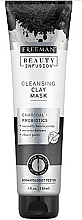 Fragrances, Perfumes, Cosmetics Cleansing Face Mask with Activated Carbon, Probiotics and Serum - Freeman Beauty Infusion Cleansing Clay Mask Charcoal & Probiotics