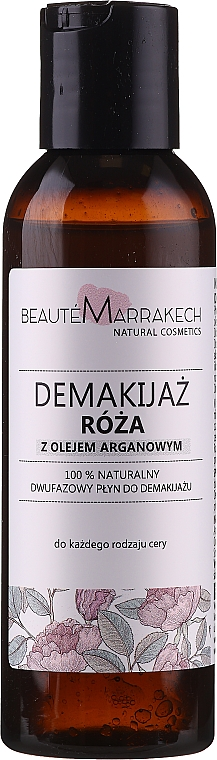 """2-Phase Makeup Remover """"Rose"""" - Beaute Marrakech Natural Two-phase Make-up Remover Rose"""