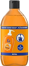 Fragrances, Perfumes, Cosmetics Liquid Soap with Orange Scent and Antibacterial Effect - Fa Hygiene & Fresh Orange Scent Liquid Soap (refill)