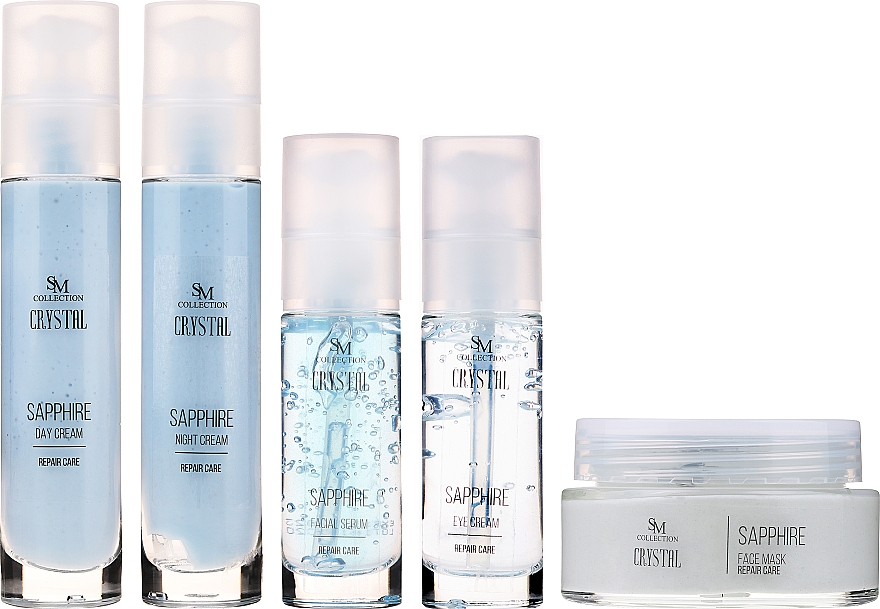 Set - Sezmar Collection Love Crystal Sapphire (f/cr/2x50ml + f/mask/100ml + eye/cr/30ml + f/serum/30ml) — photo N2