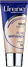 Fragrances, Perfumes, Cosmetics Mattifying Foundation - Lirene Nature Matte Foundation