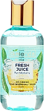 Fragrances, Perfumes, Cosmetics Micellar Glowing Water - Bielenda Fresh Juice Micellar Water Pineapple
