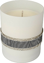 Fragrances, Perfumes, Cosmetics Scented Candle, black white, 8x9,5cm - Artman Crystal Glass
