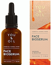 Fragrances, Perfumes, Cosmetics Nourishing Brightening Face Serum - You & Oil Amber. Face Bioserum