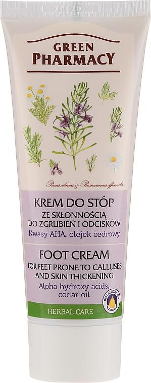 "Anti-Calluses and Corns Foot Cream ""AHA-Acids and Cedar Oil"" - Green Pharmacy"