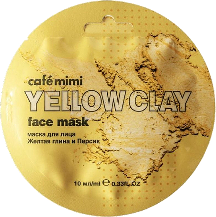 """Face Mask """"Yellow Clay & Peach"""" - Cafe Mimi Face Mask"""