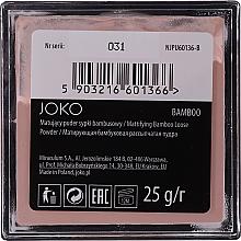 Mattifying Bamboo Loose Powder - Joko Mattifying Bamboo Loose Powder — photo N2