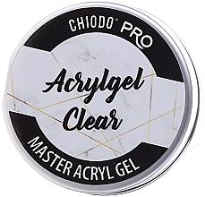 Fragrances, Perfumes, Cosmetics Nail Acryl Gel - Chiodo Pro Acryl Gel Clear Gel