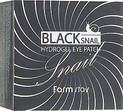 Fragrances, Perfumes, Cosmetics Black Snail Hydrogel Eye Patch - FarmStay Black Snail Hydrogel Eye Patch