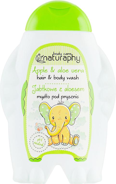 "Shower Gel-Shampoo ""Apple & Aloe Vera"" - Bluxcosmetics Naturaphy"