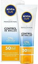 Fragrances, Perfumes, Cosmetics Mattifying Face Cream SPF 50 - Nivea Sun UV Face Shine Control Cream SPF50