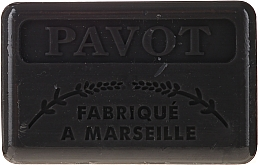 "Fragrances, Perfumes, Cosmetics Marseilles Soap ""Poppy"" - Foufour Savonnette Marseillaise Pavot"