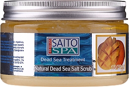 Fragrances, Perfumes, Cosmetics Salt Body Scrub 'Mango' - Saito Spa Mango Dead Sea Salt Body Scrub