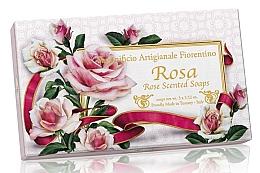 """Fragrances, Perfumes, Cosmetics Natural Soap Set """"Rose"""" - Saponificio Artigianale Fiorentino Rosa Scented Soaps (soap/3pcsx100g)"""