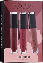 Fragrances, Perfumes, Cosmetics Set - NoUBA Millebaci Travel Set No.2 (lipstick/3x6ml)