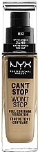 Fragrances, Perfumes, Cosmetics Foundation - NYX Professional Makeup Can't Stop Won't Stop Full Coverage Foundation