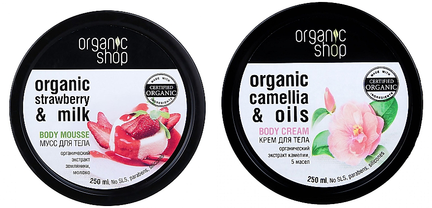 Set - Organic Shop (b/mousse/250ml + b/cr/250ml)