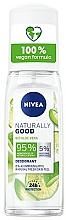 Fragrances, Perfumes, Cosmetics Aloe Deodorant - Nivea Naturally Good Deodorant Spray Bio Aloe Vera