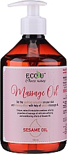 Fragrances, Perfumes, Cosmetics Massage Oil - Eco U Massage Oil Sesame Oil