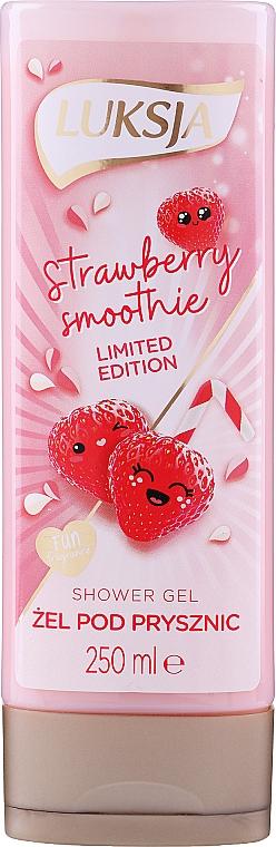 """Shower Cream-Gel """"Strawberry Smoothie"""" - Luksja Coconut Strawberry Smoothie Shower Gel"""