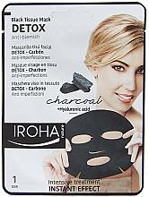 Fragrances, Perfumes, Cosmetics Face Sheet Mask - Iroha Nature Detox Black Tissue Mask Charcoal