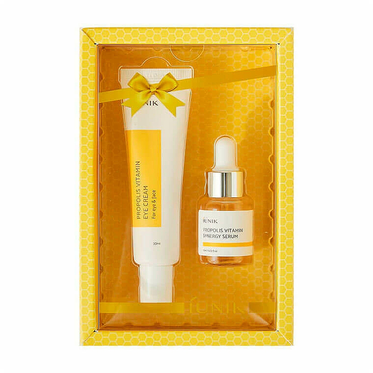 Set - iUNIK Propolis Vitamin Eye Cream Set (eye/cr/30ml + ser/15ml)