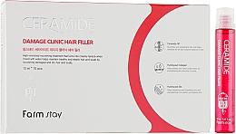 Fragrances, Perfumes, Cosmetics Moisturizing Ceramide Hair Filler - FarmStay Ceramide Damage Clinic Hair Filler
